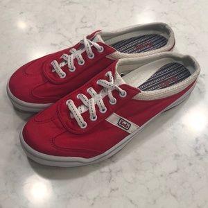 KEDS RED SLIP ON SNEAKER